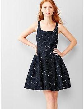 splatter-fit-&-flare-dress by gap
