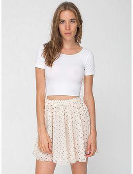 polka-dot-chiffon-double-layered-shirred-waist-skirt by american-apparel