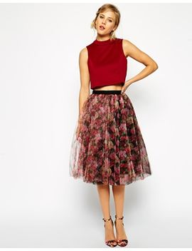 asos-premium-tulle-skirt-in-floral-print by asos-collection