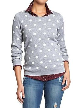 womens-polka-dot-sweaters by old-navy