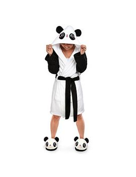kawaii-hooded-panda-bathrobe by think-geek