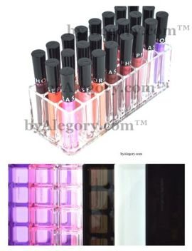 alegory-acrylic-lip-gloss-makeup-organizer,-24-spaces---clear by byalegory