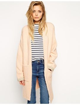 asos-longline-cardigan-with-patch-pockets by asos-collection