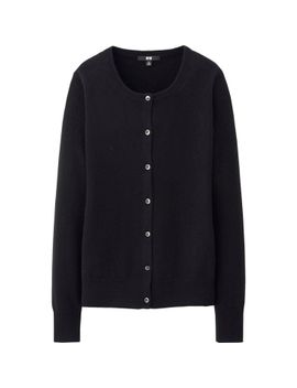 women-cashmere-crew-neck-cardigan by uniqlo