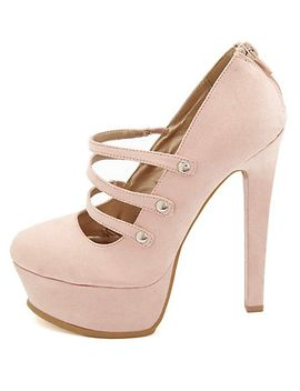 qupid-triple-mary-jane-platform-pumps by charlotte-russe
