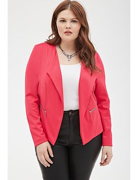 zippered-open-front-jacket by forever-21