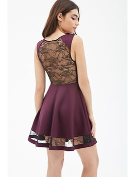lacy-scuba-knit-dress by forever-21