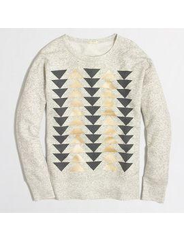 factory-metallic-arrows-sweatshirt by jcrew