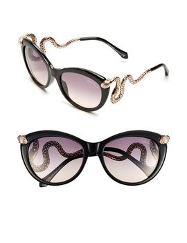 rc889s-56mm-snake-temple-cat-eye-sunglasses by roberto-cavalli