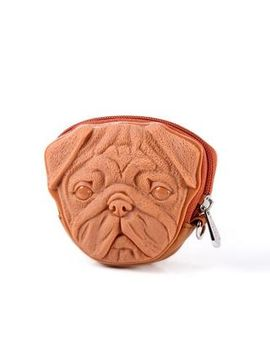 casual-pug-3d-coin-purse by adamo-3d-bag-original