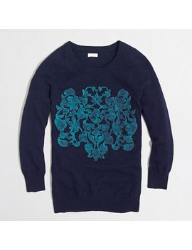 factory-embossed-floral-sweater by jcrew