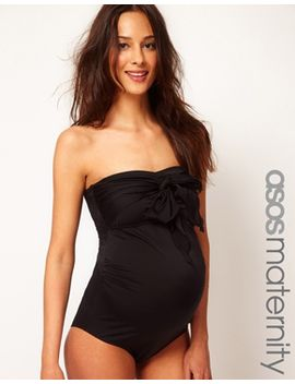 asos-maternity-exclusive-swimsuit-with-bow by asos-maternity