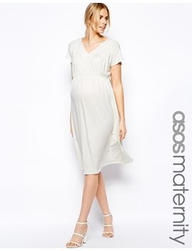 asos-maternity-exclusive-grecian-midi-dress by asos-maternity