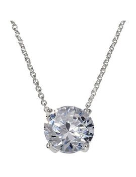 cubic-zirconia-pendant-necklace---clear by target