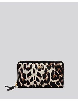 wallet---robinson-leopard-print-calf-hair-zip-continental by tory-burch