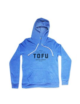 tofu-hoodie----blue-hoodie---mens-food-hoodie---unisex-eco-fleece-pullover-hoodie---small,-medium,-large,-xl-xxl by naturwrk