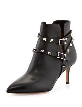 rockstud-mid-heel-studded-harness-bootie by valentino
