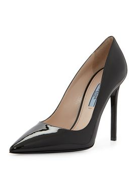 patent-pointed-toe-pump,-black by prada