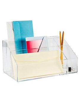 acrylic-desktop-mail-center by container-store