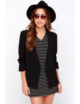 office-politics-black-blazer by lush