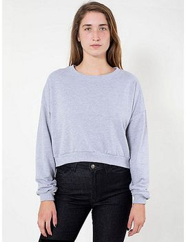 california-fleece-cropped-sweatshirt by american-apparel
