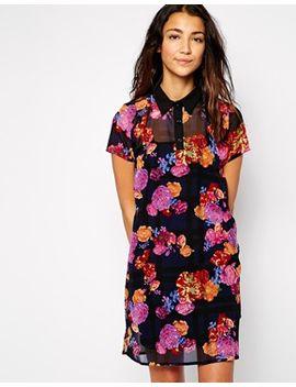 influence-black-floral-shirt-dress by influence