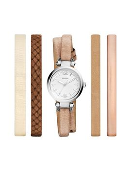 georgia-round-watch-&-interchangeable-strap-set,-26mm by fossil