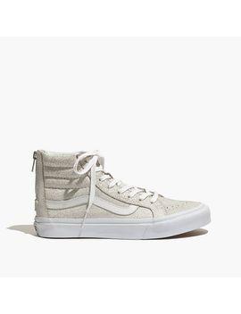 vans®-sk8-hi-slim-zip-high-top-sneakers-in-crackled-suede by madewell