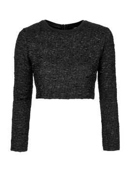 textured-crop-sweat by topshop