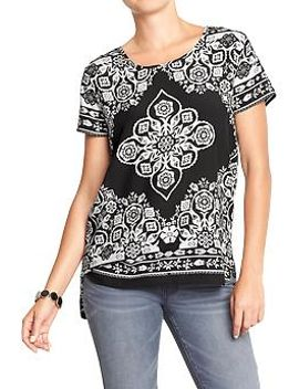 womens-hi-lo-patterned-tops by old-navy