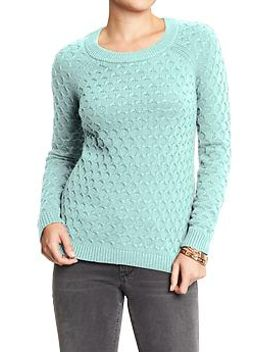womens-honeycomb-knit-sweaters by old-navy