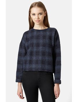 windowpane-check-sweater by topshop