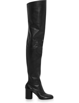 leather-over-the-knee-boots by maison-margiela