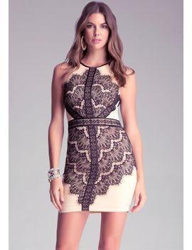 lace-halter-dress by bebe