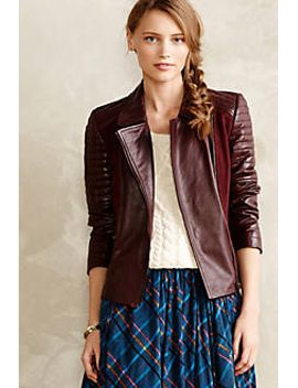 quilted-leather-bomber by elevenses