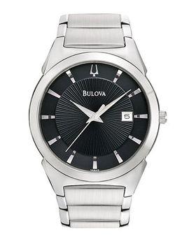 mens-stainless-steel-bracelet-watch-38mm-96b149 by bulova