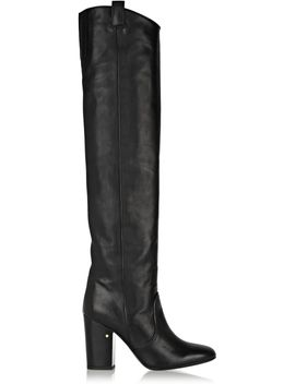 silas-leather-over-the-knee-boots by laurence-dacade