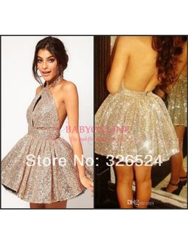 2014--hot&sexy-halter-neck-backless-ball-gwon--golden-sequin-cocktail-dress--homecomeing-dress-bo3882 by ali-express