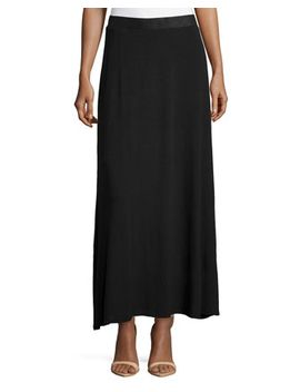 jersey-maxi-skirt,-black by neiman-marcus