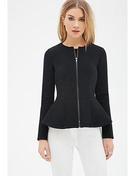 scuba-knit-peplum-jacket by forever-21
