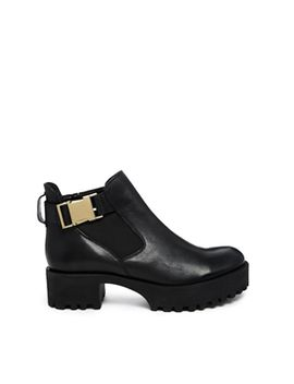 asos-rave-with-me-leather-ankle-boots by asos-collection