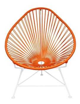 innit-designs-acapulco-chair,-orange-weave-on-white-frame by innit