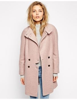 asos-coat-with-notch-detail by asos-collection
