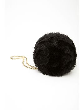 round-faux-fur-chain-strap-clutch by forever-21