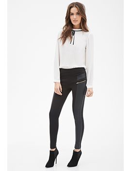 faux-leather-paneled-leggings by forever-21