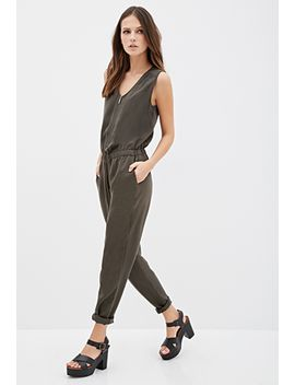 zip-front-jumpsuit by forever-21