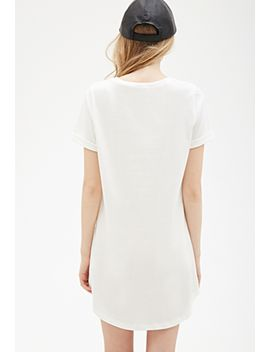 cuffed-sleeve-tee-shirt-dress by forever-21