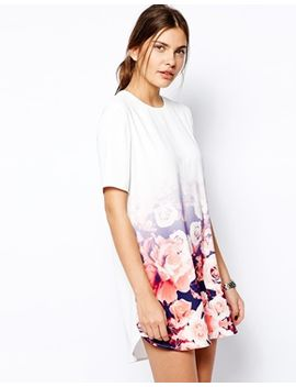finders-keepers-good-fortune-t-shirt-dress-in-ombre-floral by finders-keepers