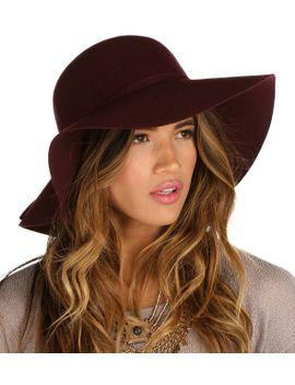 burgundy-fall-floppy-hat by windsor