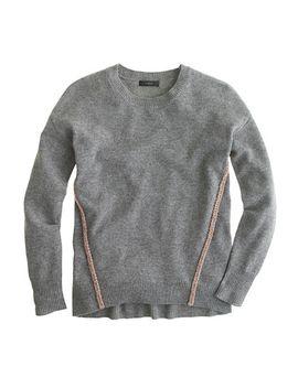 wool-metallic-braid-sweater by jcrew